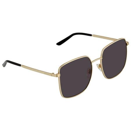 Gucci Grey Square Ladies Sunglasses GG0802S-001 57