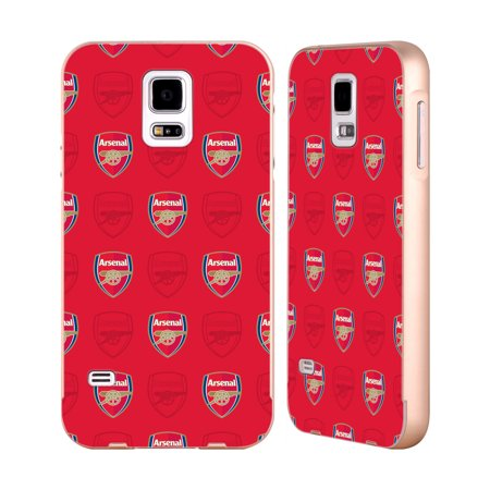 OFFICIAL ARSENAL FC 2017/18 CREST PATTERNS GOLD ALUMINIUM BUMPER SLIDER CASE FOR SAMSUNG PHONES