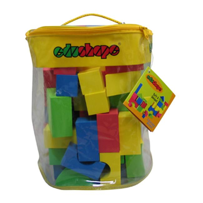 Edushape EDS716076 Soft & Unique Blocks 80 Pieces