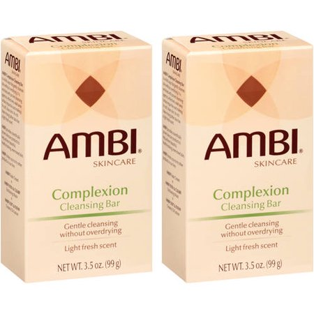 (2 Pack) Ambi Skincare Complexion Cleansing Bar, 3.5