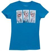 Frozen Elsa Scene Boxes Disney Animated Movie Mighty Fine Juniors T-Shirt Tee
