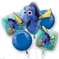 Finding Dory Character Authentic Licensed Theme Foil Balloon Bouquet