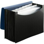 12-Pockets File Folder Office Organizer Monthly Letter Size Expanding Blue Black