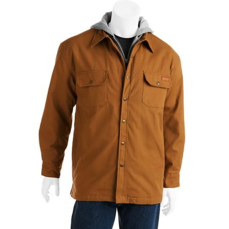 Dickies big men 39 s hooded shirt jacket size 2xl for Dickies big tex shirt