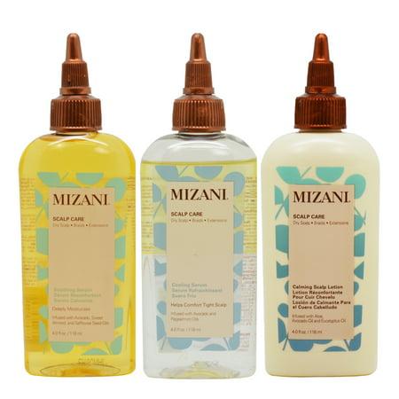 - Mizani Scalp Care Set (Soothing Serum+ Cooling Serum+ Calming Lotion 4oz)