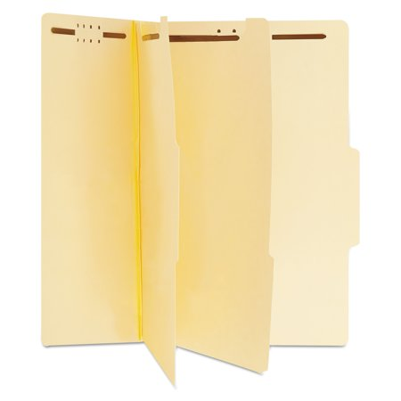 Universal Manila Classification Folders, Letter, Six-Section, 15/Box -UNV10300