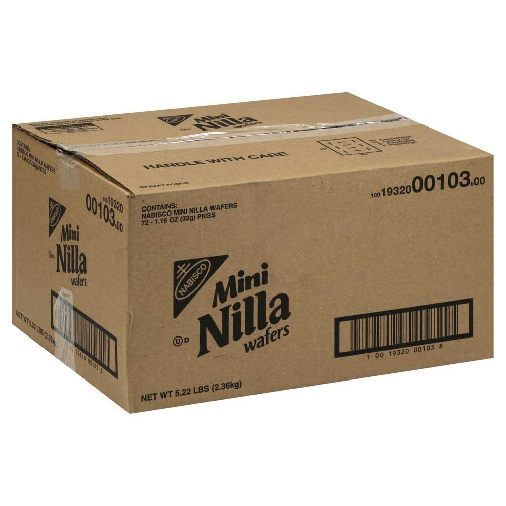 72 PACKS : Nilla Vanilla Mini Wafers, 1.16-Ounce Packages