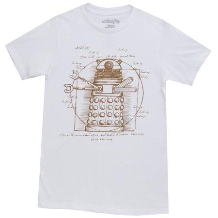 Doctor Who Vitruvian Dalek BBC Mighty Fine Adult T-Shirt Tee
