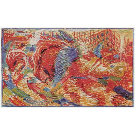 Framed Art for Your Wall Boccioni, Umberto - The City rises [1] 10 x 13 Frame (Rise Lantern City)