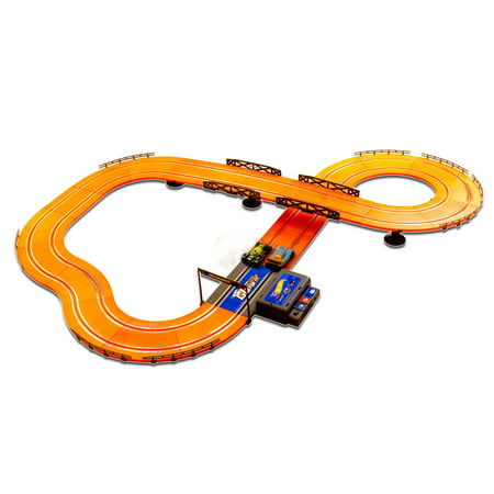 Hot Wheels Battery Operated 12.4' Slot Track (Mario Slot Car Race Track Sets)