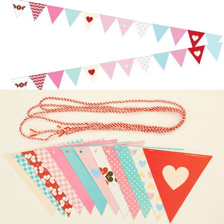 eZAKKA Party Triangle Paper Banners Flags for Home Decoration, Kids Birthday Party, Baby Shower, Wedding, Christmas Bunting (New Baby Chocolate Decoration)