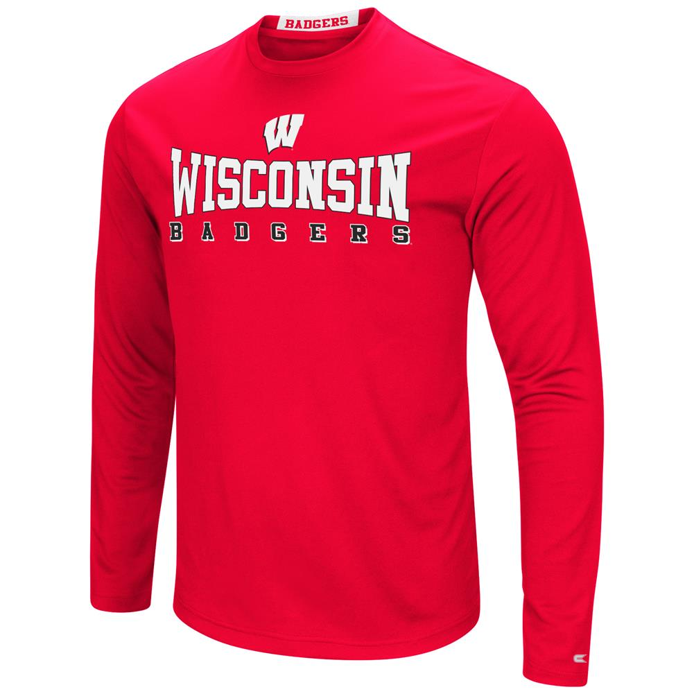 University of Wisconsin Badgers T-Shirt Performance Long Sleeve Shirt