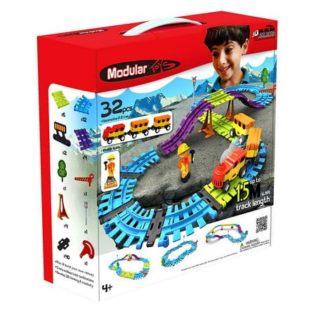 Modular Toys USA 3D Railroad Kit, 32 pcs