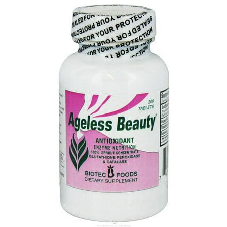 Biotec Foods Ageless Beauty Antioxydant et le supplément de nutrition Enzymes comprimés, 200 Ea