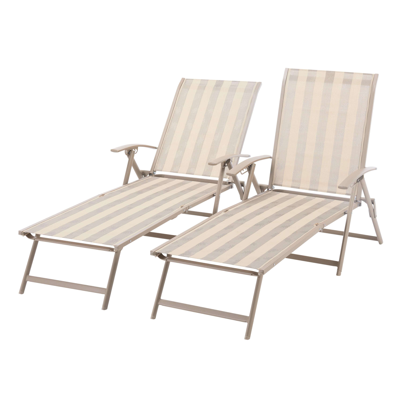 Picture of: Mainstays Fair Park Sling Folding Chaise Lounge Chair Set Of 2 Multiple Colors Walmart Com Walmart Com