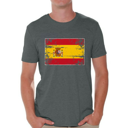 - Awkward Styles Spain Flag Shirt for Men Spanish Soccer 2018 Tshirt Gifts from Spain Flag of Spain Spanish Men Spain Shirts for Men Spain 2018 Tshirt Spanish Gifts for Him Spanish Flag Tshirt