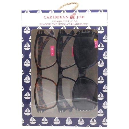 Caribbean Joe Womens Sailboat Sun & Reading Glasses (Boating Sunglasses)
