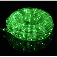 Fantado Green Outdoor LED Fairy String Rope Light, 33 FT, Clear Tube, AC Plug-In by PaperLanternStore