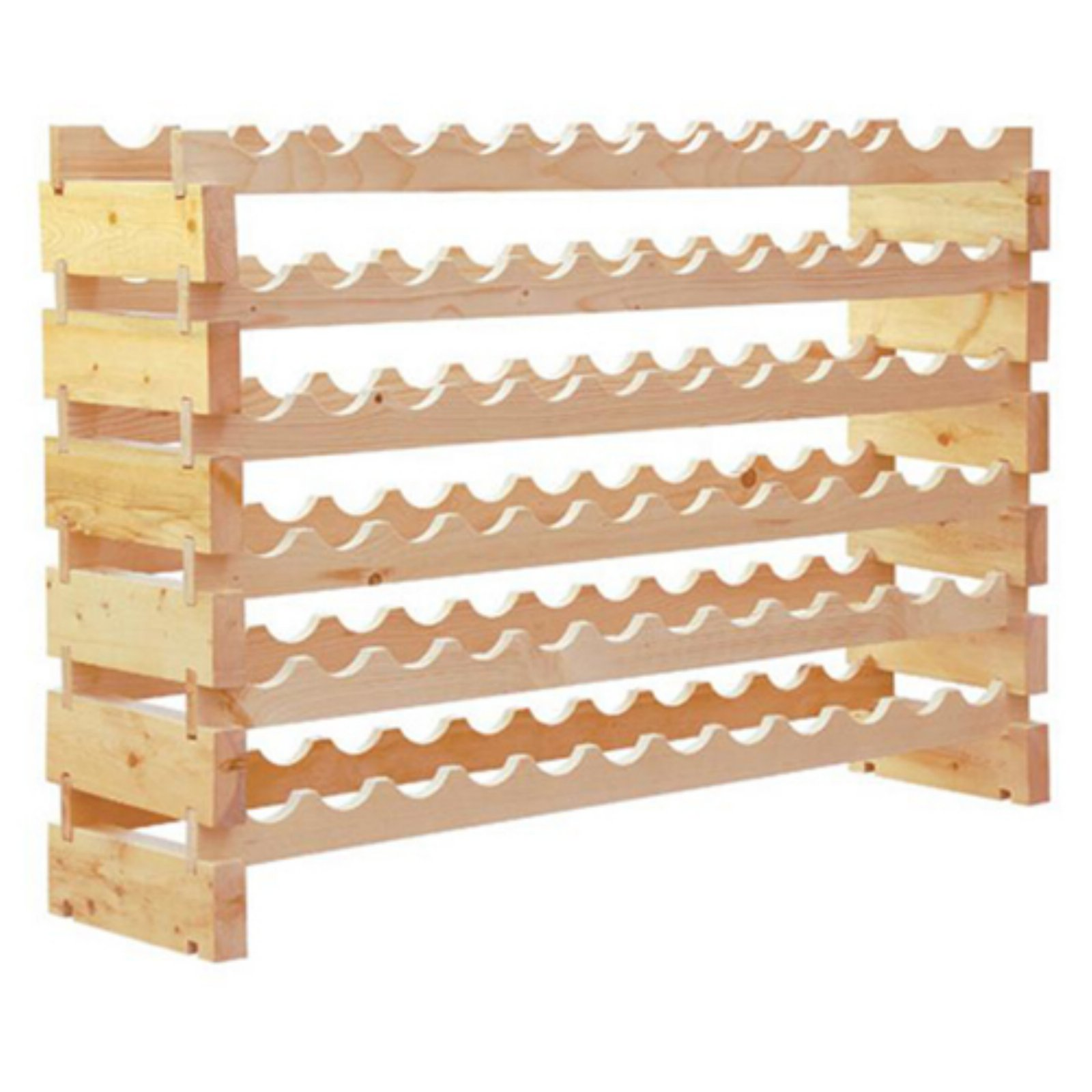 HomCom 6-Tier 72-Bottle Wood Wine Storage Rack