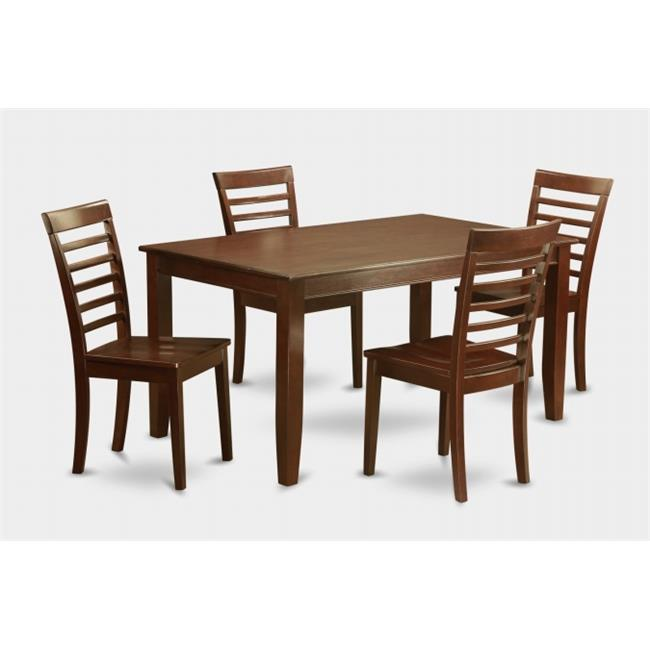 East West Furniture DUML5-MAH-W 5 Pc Dudley Dining Table ...