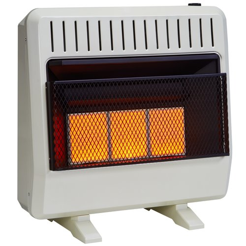 Avenger Dual Fuel Ventless Infrared 30,000 BTU Natural Gas / Propane Wall Mounted Heater with Automatic Thermostat