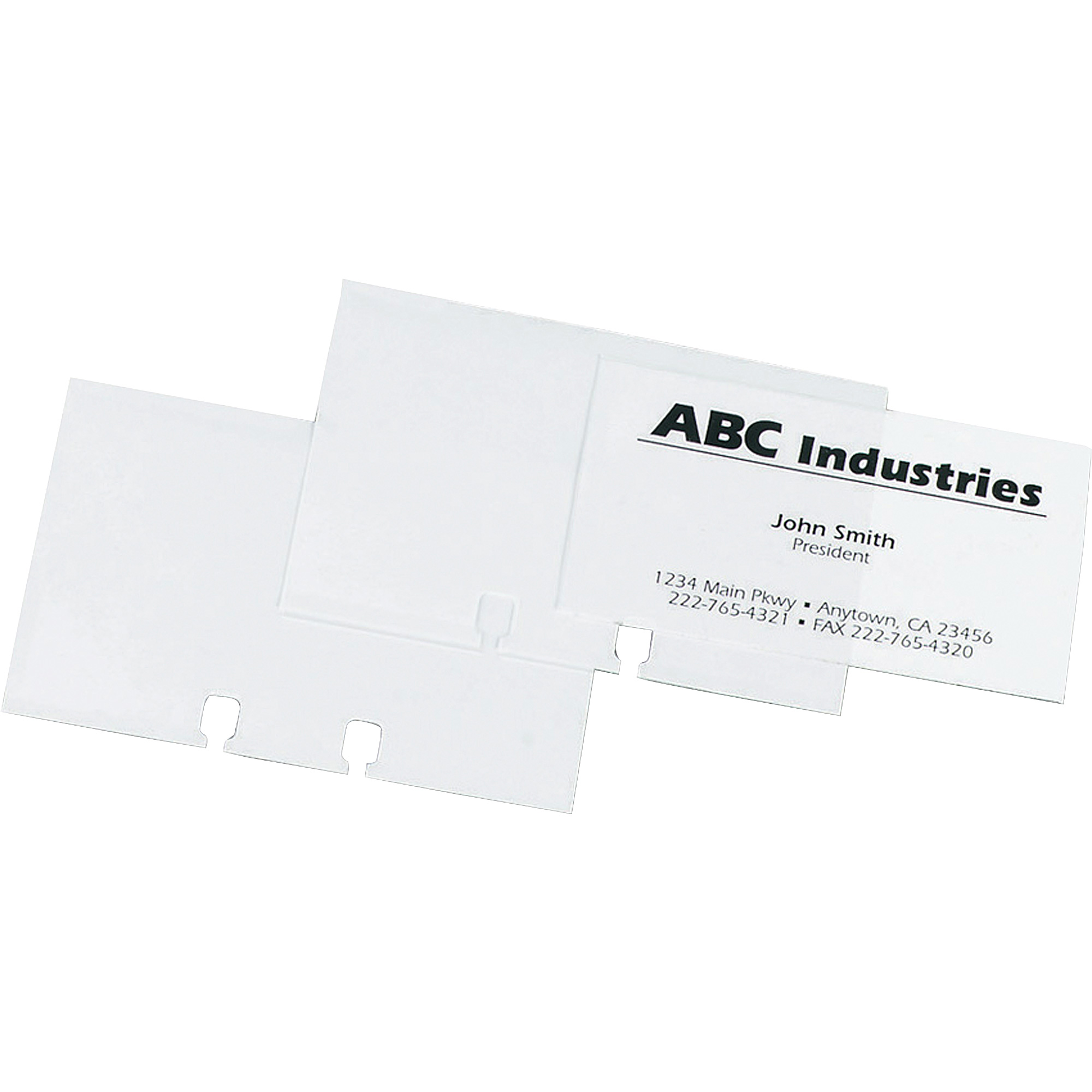 Rolodex Business Card File Refill Sleeves, Clear - Walmart.com