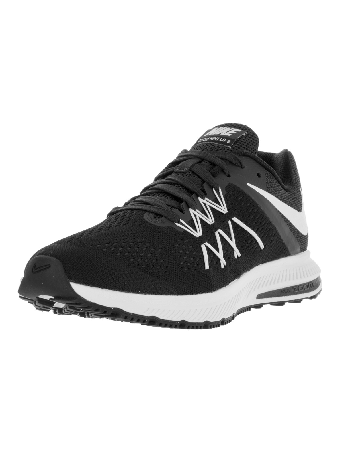 nike mens air zoom winflo 3 running shoe black/white-anthracite 11 d(m) us