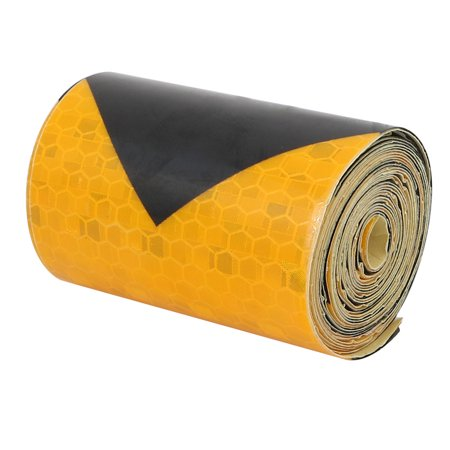 3 Meter Reflective Tape - Unique Bargains 2Meter Length 5cm Width Honeycomb Adhesive Reflective Warning Tape Yellow Black