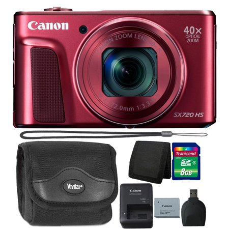 Canon PowerShot SX720 HS 20.3MP 40X Zoom Built-In Wifi / NFC Full HD 1080p Point and Shoot Digital Camera Red