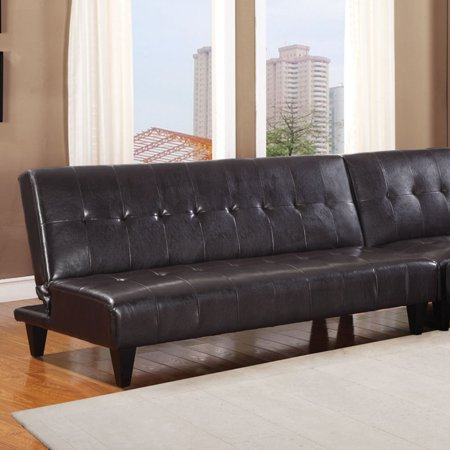 Faux Leather Bycast Adjustable Futon Sofa, Multiple Colors