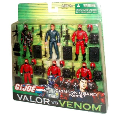 GI Joe Year 2004 Valor vs Venom Series 6 Pack 4 Inch Tall Action Figure CRIMSON GUARD FORCE with FIREFLY... by
