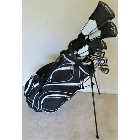 Callaway Golf Clubs >> Left Handed Callaway Mens Golf Set Regular Flex Complete Driver Fairway Wood Hybrid Irons Putter Stand Bag