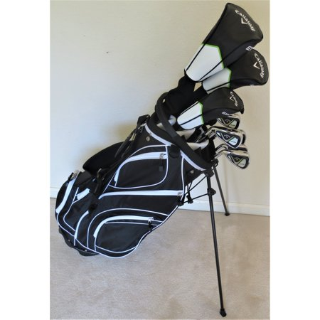 Left Handed Fairway Woods - Left Handed Callaway Mens Golf Set Regular Flex Complete Driver, Fairway Wood, Hybrid, Irons, Putter, Stand Bag