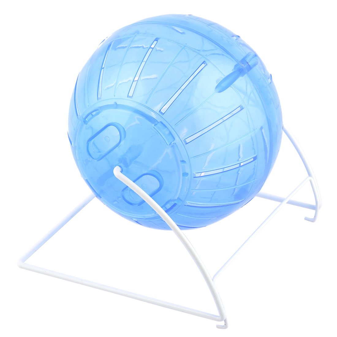 Hamster Gerbil Mice Mouse Fitness Exercise Toy Ball Wheel Cage White Blue by Unique-Bargains