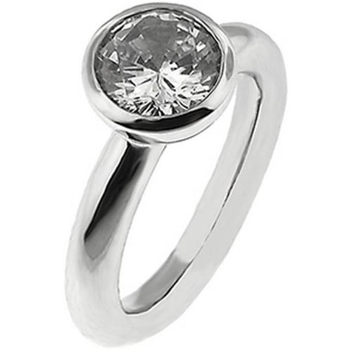 Doma Jewellery SSRZ215-S6 Sterling Silver Ring With Cubic Zirconia, Size 6