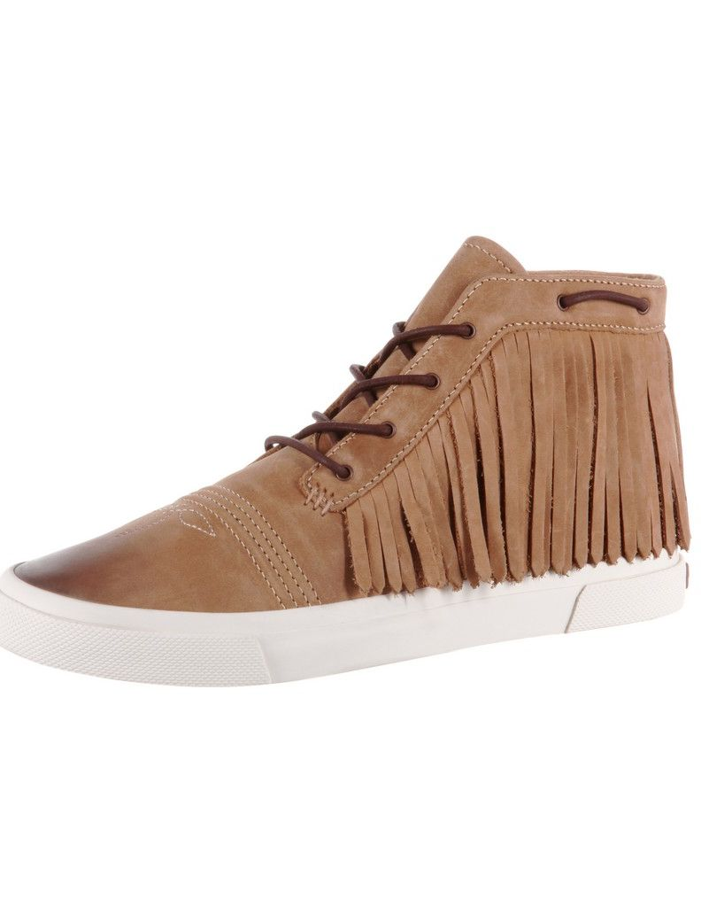Durango Casual Shoes Womens Music City Fringe Sneaker Camel DRD0189 by Durango