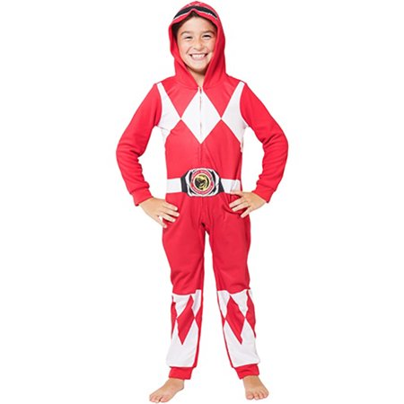 Power Rangers Boys 'Red Ranger' One Piece Union Pajama (Little Boys & Big - Power Ranger Onesie Adults