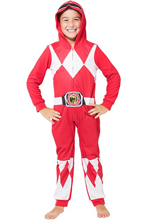 Power Rangers Boys 'Red Ranger' One Piece Union Pajama (Little Boys & Big Boys)