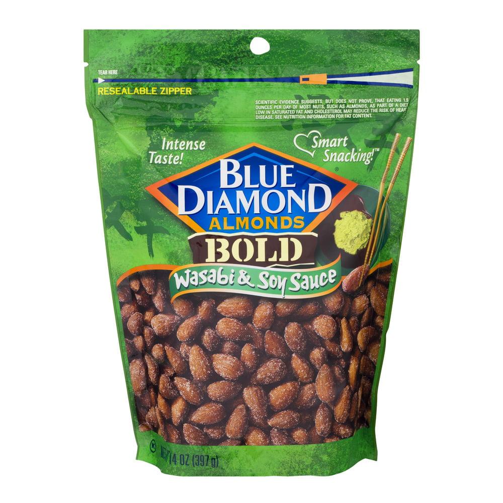 Blue Diamond Bold Wasabi & Soy Sauce Almonds, 14 oz by Blue Diamond Growers