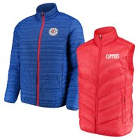 LA Clippers G-III Sports by Carl Banks Three & Out 3-in-1 System Full-Zip Vest & Jacket Set - Red/Royal