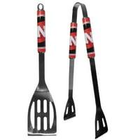 Nebraska Cornhuskers 2 pc Steel BBQ Tool Set