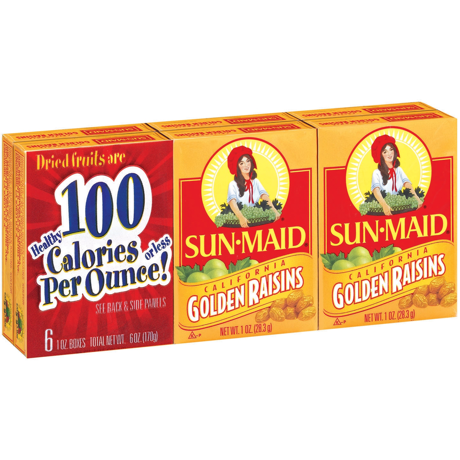 Sun-Maid® Golden Raisins 6-1 oz. Boxes