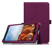 Verizon Ellipsis 8 Case - Fintie Premium Vegan Leather Folio Cover for Verizon Ellipsis 8 4G LTE Tablet, Purple