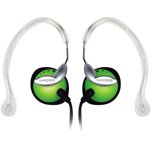 Koss Clipper Lightweight Clip-On Stereophone with In-Line Volume Control - Green