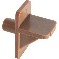 Prime-Line Products MP9001 1/4 in. Brown Plastic Shelf Support Peg (Pack of 50)