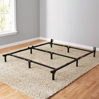"Mainstays 7"" Adjustable Bed Frame, Black and White"