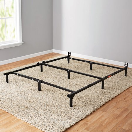 "Mainstays 7"" Adjustable Bed Frame, Black Steel - Walmart.com"