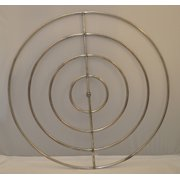 48 Inch High Capacity Round Stainless Steel Gas Fire Pit Burner Ring