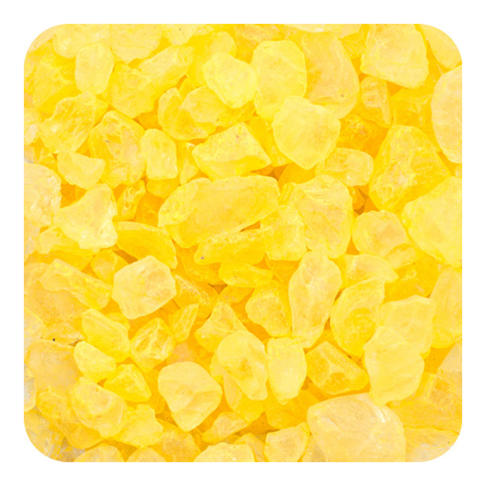 Sandtastik Preschool Kids Children Craft Colored ICE Real Glass Gems, Scatters 10 lb (4.5 kg) Box; 4 - 10 mm - Yellow