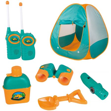 Best Present For 3 Year Old Boy (ToyVelt Kids Camping Tent Set Toys - Includes Pop Up Play Tent, Telescope, 2 Walkie Talkies, and Full Camping Gear Set Indoor and Outdoor Toy - Best Present for 3)